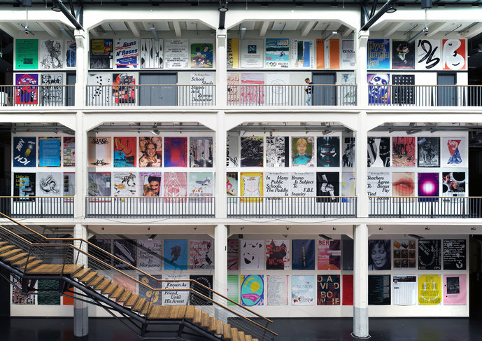 Poster installation by communication design students and professors (2017)